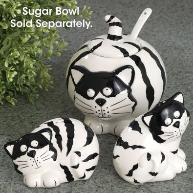 Chubby Cats Ceramic Salt & Pepper - Set of 2
