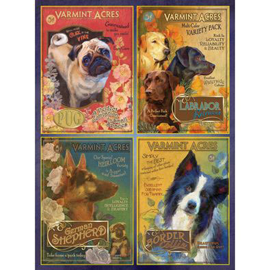 Dog Seeds 300 Large Piece Jigsaw Puzzle