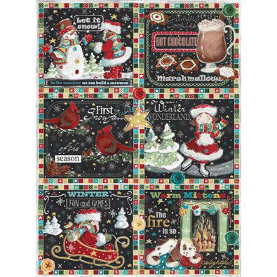 Winter Patchwork 1000 Piece Jigsaw Puzzle