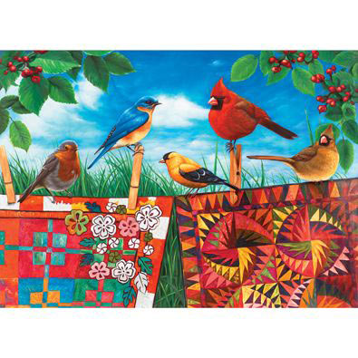 Birds & Quilts 1000 Piece Jigsaw Puzzle