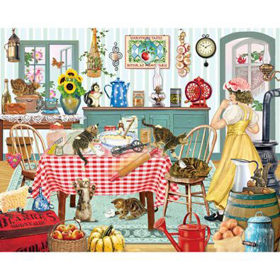 Kittens In The Kitchen 300 Large Piece Jigsaw Puzzle