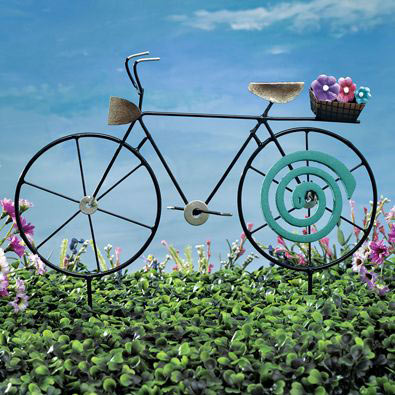 Bicycle Mosquito Coil Holder Garden Décor