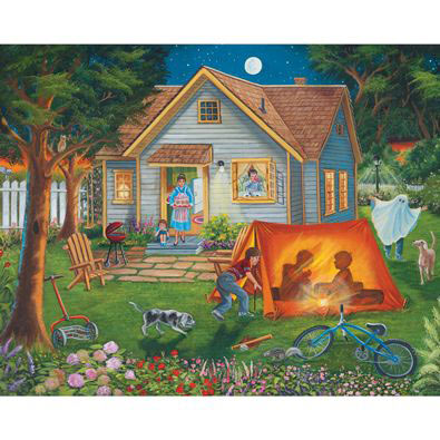 Backyard Camping 500 Piece Jigsaw Puzzle