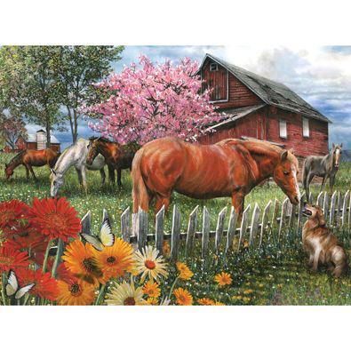 Chatting With Neighbors 300 Large Piece Jigsaw Puzzle