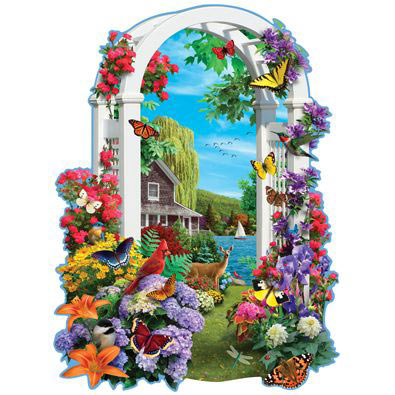 Lakeside Arbor 300 Large Piece Shaped Jigsaw Puzzle