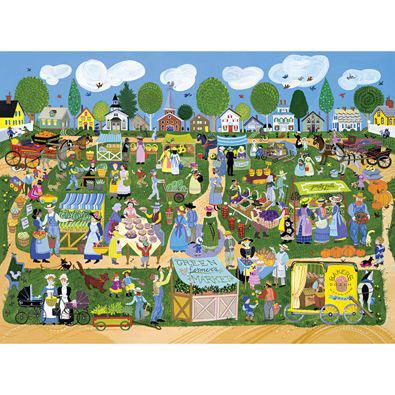 Green Farmer's Market 1000 Piece Jigsaw Puzzle