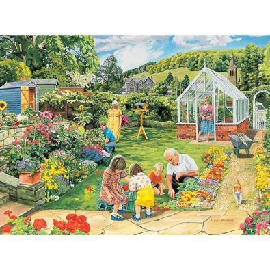 Gardening With Grampa 1000 Piece Jigsaw Puzzle