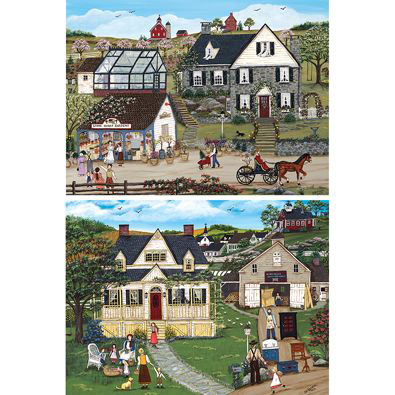 Set of 2: Days Gone By 1000 Piece Jigsaw Puzzles