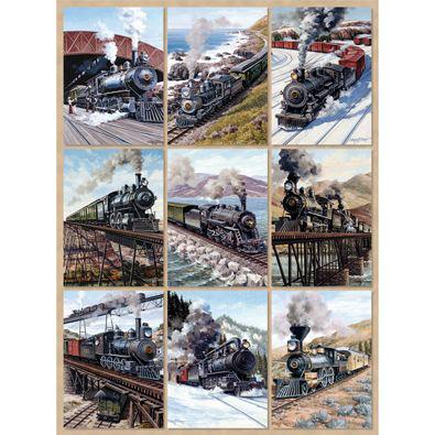 Locomotive Power Quilt 1000 Piece Jigsaw Puzzle