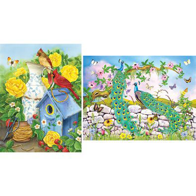 Set of 2: Visions Of Summer 1000 Piece Jigsaw Puzzles