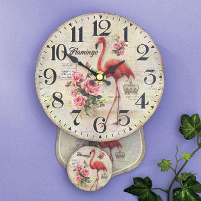Flamingo Pendulum Clock