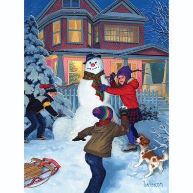 Snowman's Finishing Touches 300 Large Piece Jigsaw Puzzle