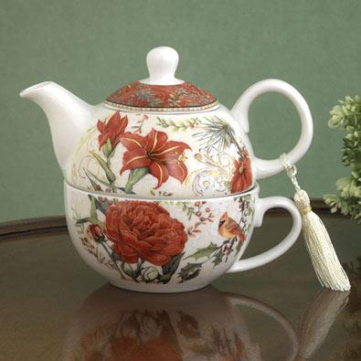 Cardinal Tea for One