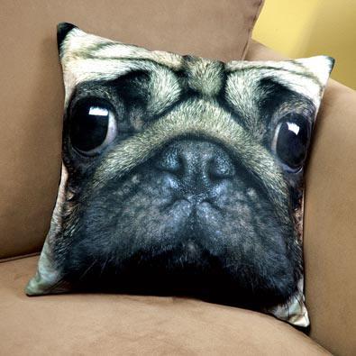 Dog Face Pillow- Pug