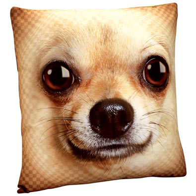 Dog Face Pillow- Chihuahua