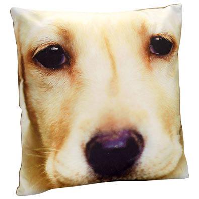 Dog Face Pillow- Yellow Lab