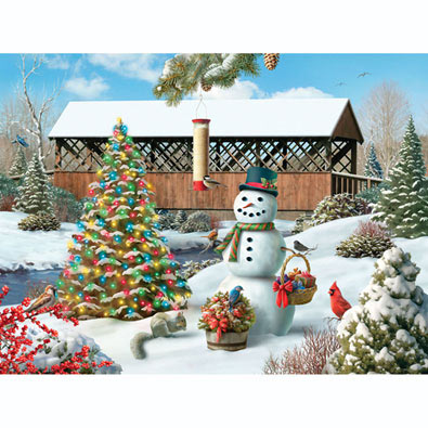 Countryside Christmas 300 Large Piece Jigsaw Puzzle