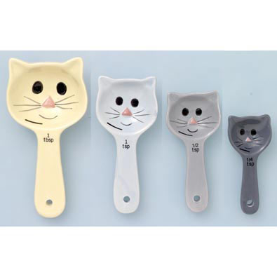Set of 4: Cat Measuring Spoons
