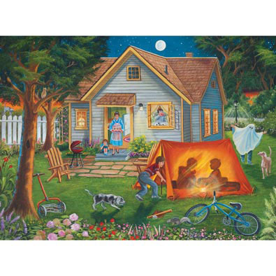 Backyard Camping 1000 Piece Jigsaw Puzzle