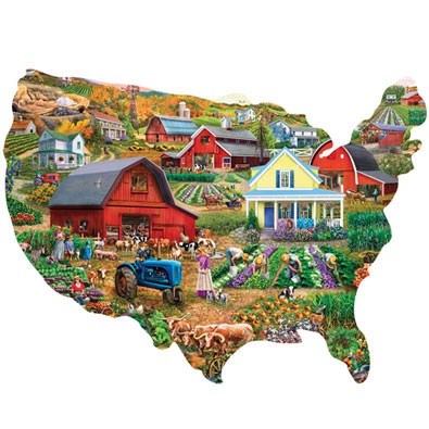 Farm Country USA 300 Large Piece Shaped Puzzle
