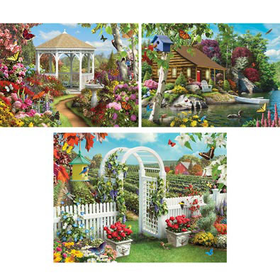 Set of 3: Nature's Serenity 500 Piece Jigsaw Puzzles