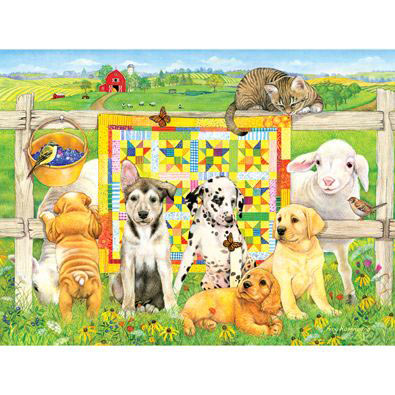 Quilting Club 300 Large Piece Jigsaw Puzzle