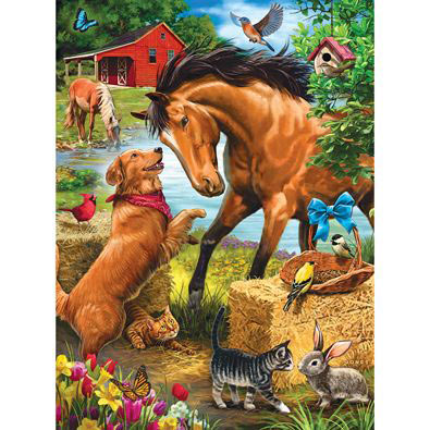 Horse Play 300 Large Piece Jigsaw Puzzle