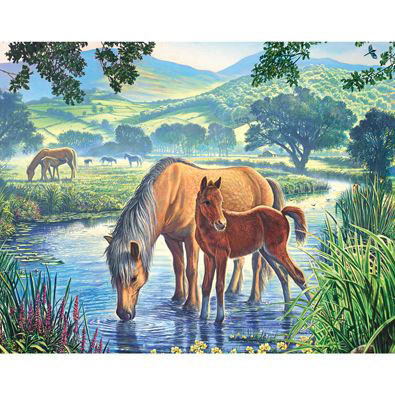 Fell Ponies 100 Large Piece Jigsaw Puzzle