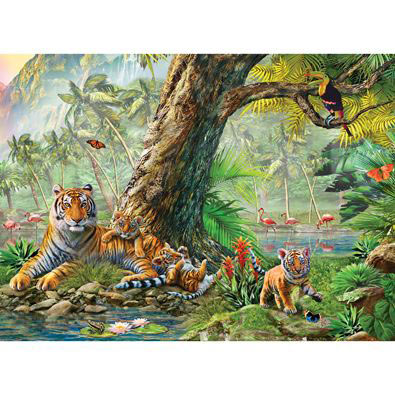 Land And Water Utopia 500 Piece Giant Jigsaw Puzzle