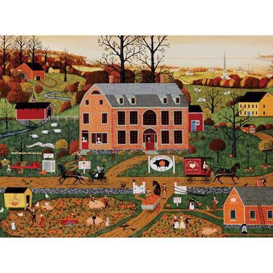 Pig And Pumpkin Inn 500 Piece Jigsaw Puzzle