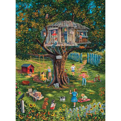 Stevie's Tree House Memories 300 Large Piece Jigsaw Puzzle