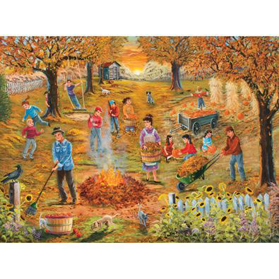 Neighborhood Autumn Cleanup 1000 Piece Jigsaw Puzzle