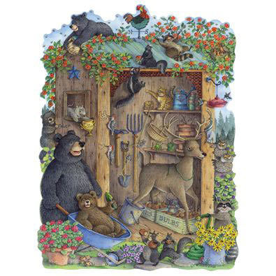 Critters In The Garden Shed 750 Piece Jigsaw Puzzle