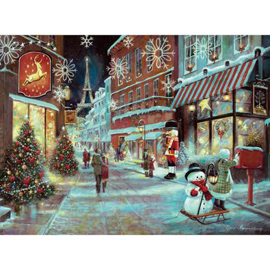 Christmas In Paris 1000 Piece Glitter Effects Jigsaw Puzzle