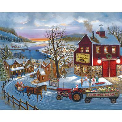 Santa's On His Way 500 Piece Jigsaw Puzzle