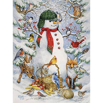 Woodland Snowman 500 Piece Jigsaw Puzzle