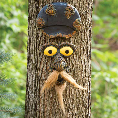 Mustache Man Tree Face Tree Hugger
