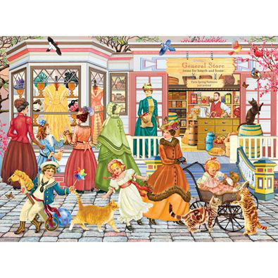 Spring Fashions From Paris 1000 Piece Jigsaw Puzzle