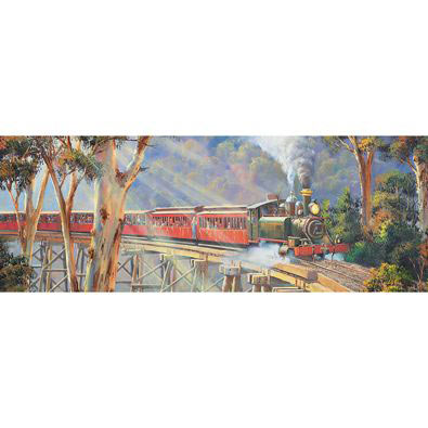 Puffing Billy 2 1000 Piece Panoramic Jigsaw Puzzle