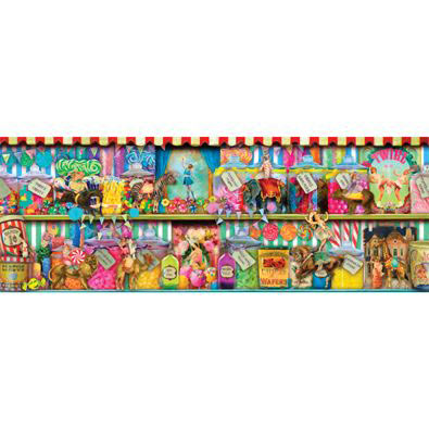 Sweet Shoppe 1000 Piece Panoramic Jigsaw Puzzle