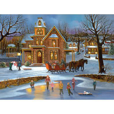 Sleigh Ride Christmas 500 Piece Jigsaw Puzzle
