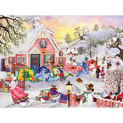 Frosty Quilts 300 Large Piece Jigsaw Puzzle