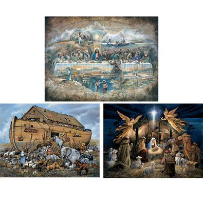 Set of 3: The Power Of Inspiration 500 Piece Jigsaw Puzzles