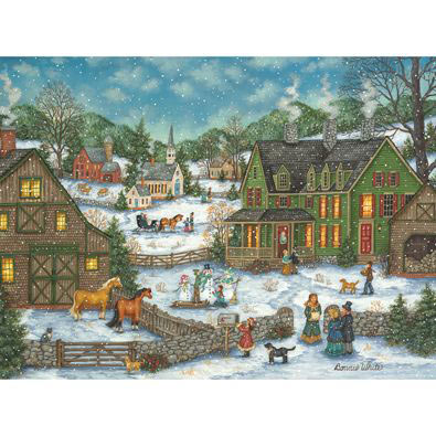 New Year's Eve Flurries 1000 Piece Jigsaw Puzzle