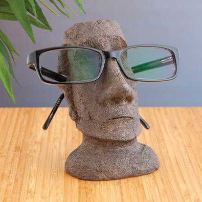 Stone Face Eyeglass Holder