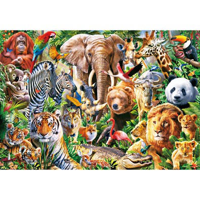 African Wildlife 1000 Piece Jigsaw Puzzle