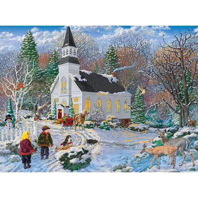 Snowy Winter Delight 300 Large Piece Jigsaw Puzzle