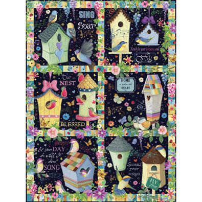 Birdhouse Quilt 1000 Piece Jigsaw Puzzle
