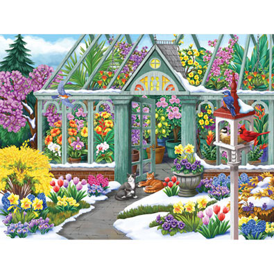 Spring in Bloom 300 Large Piece Jigsaw Puzzle
