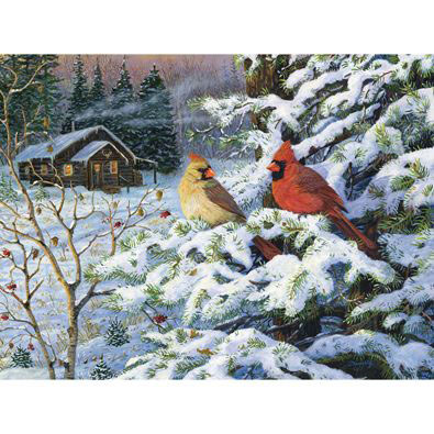Winters Warm Glow 300 Large Piece Jigsaw Puzzle